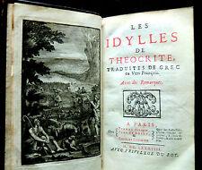 THEOCRITE - LES IDYLLES - Traduites en Vers François-chez P.AUBOUIN 1688 -RARE
