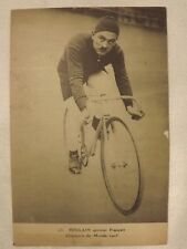 cpa cycliste vélo ancien sport course 1900-1920 photo N/B POULAIN sprinter 1905