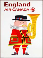 England Air Canada Great Britain United Kingdom Vintage Airline Travel Poster