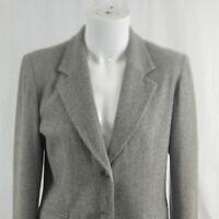 Pendleton Women's Size 10 Wool Gray Blazer Suit Jacket