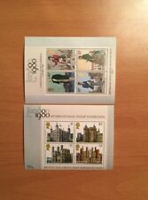 Stamps Great Britain Souvenir Sheets commemorating the 1980 Int'l Stamp Expo.