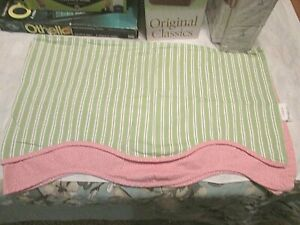 Waverly Classics - Green, Pink & White Scalloped Curtain Valences - 4 of Them