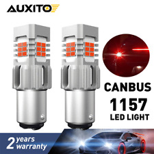 2PCS 1157 BAY15D 7528 2357 Red Tail Brake Stop Turn Signal LED Light Bulb CANBUS