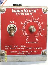 *LOT OF 3* ARTHUR RUSSELL VIBRO BLOCK CONTROLLER MODEL VBC-12MA (untested)