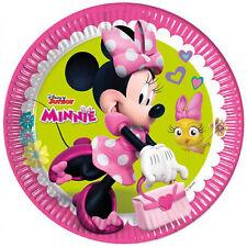 Platos De Papel Oficial Disney Minnie Para Fiesta De Cumpleaños 16Pz 1401