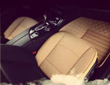 1Pcs Universal New PU leather Luxury Car Cover Protector Seat Beige