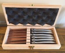 Silver Handle Set of 6 Steak Knives by Cooks Professional