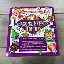 Art Explosion 15,000 Clip Art Images Seasons Events Holidays Windows 95 98 NOS