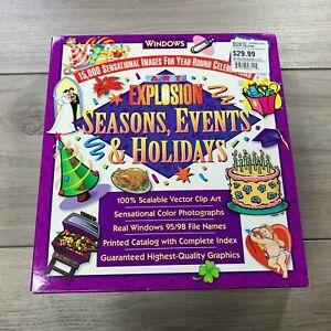 Art Explosion 15,000 Clip Art Images Seasons Events Holidays Windows 95 98 NOS