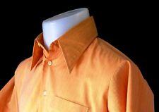 """YAMAKI SWAN JAPAN Mens Quality Orange SHORT SLEEVE SHIRT - L - Chest 42"""""""