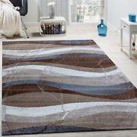 Modern Rug Grey Brown Blue Patterned Carpet Small X Large Living Room Lounge Mat