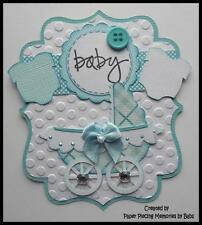 Baby Boy Tag Premade Paper Piecing Die Cut for Scrapbook Page by Babs