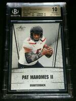 BGS 10 RC PATRICK MAHOMES II SILVER PRISTINE ROOKIE BETTER THAN PSA 10 2017 Leaf