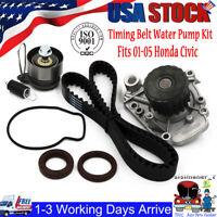 Timing Belt Water Pump Kit Fits 01-05 Civic 1.7L L4 SOHC 16v  Low Noise US STOCK
