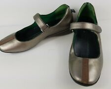 Nike Lab G Series Mary Jane Silver Leather Strap Shoes Size 6B