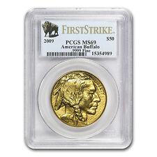 2009 1 oz Gold Buffalo Ms-69 Pcgs (First Strike) - Sku #56443