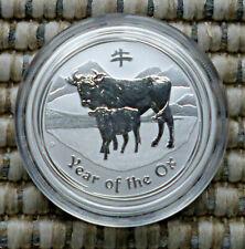Lunar II 2009 Ochse OX Silbermünze 0,5 Unze 1/2 OZ 50 Cents Australia Silver