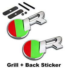 R Racing Grille Badge + Decal Emblem Sticker For JAGUAR XF XJ XJS XK S-TYPE