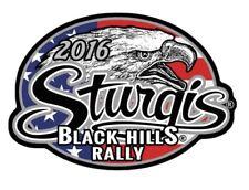 "Motorcycle Biker Uniform Patch 4"" x 2.75"" Sturgis 2016 Black Hills Rally Eagle"