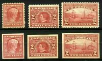 US #367//373 MNH 1909 Perforate & Imperforate Hudson-Fulton Issues....[M38]