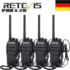 4Stück Retevis RT24 Funkgerät PMR 0.5W Lizenzfrei 16Kanäle WalkieTalkie&Headset