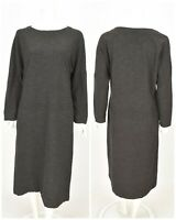 Womens OSKA Shift Tunic Dress Long Wool Blend Grey Oversized Size 1 / UK8 / S