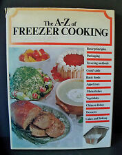 Vintage 1975 A to Z of FREEZER COOKING Recipe Cook Book 160 pgs GALAHAD Pictures