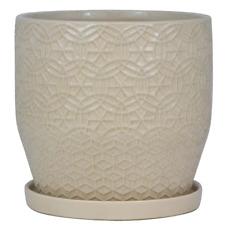 Trendspot Planter Pot Plant Flower Indoor Outdoor Garden White Ceramic 10-12 in