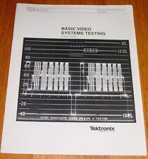 Tektronix Basic Video Systems Testing application Note 35 Manual 20W-5462