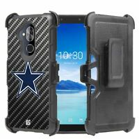 Cowboy Star Carbon Fiber Hybrid Armor Belt Clip Rugged Case ALCATEL Series
