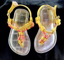 Toddler Baby Girls Thong Sandals Yellow Dress Summer Beach Sandals Size 5