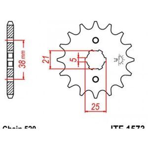 Pignon acier 13 dents jt chaîne 520 honda xv125 virago Jt sprockets JTF1573.13