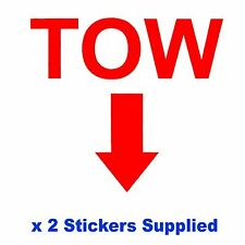 2 x MSA Specification - RED TOW Arrow Race Car Decals / Body Panel Stickers