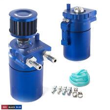 Aluminum Universal 400ml Oil Catch Can Reservoir Tank + Breather Filter