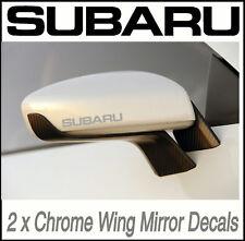SUBARU CHROME WING MIRROR DECALS STICKERS VINYL MOD X2 Adhesive Graphic decals