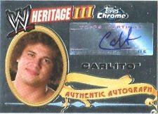 WWE Carlito Heritage III Chrome 2008 Autograph Card