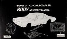 1967 Mercury Cougar Body Assembly Manual 67 Windows Locks Hood Chrome Trim