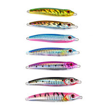 7pcs Micro Jig Butterfly Metal Jigs Tuna Snapper Fish Slow Pitch Lures 100g/10cm