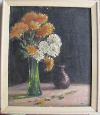 """ERNEST SALTER AUSTRALIAN FRAMED OIL """"STILL LIFE FLOWERS"""" C 1940"""
