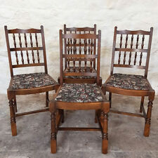 Oak Farmhouse Chairs with 4 Pieces
