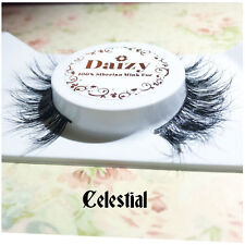MINK EYELASHES  NATURAL LONG WISPY LASHES MAKE UP NEW 100% LUXURY MINK CELESTIAL