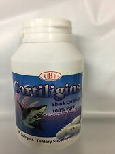 UBB Cartiligins Shark Cartilage 100% Pure Dietary Supplement 100 Softgels