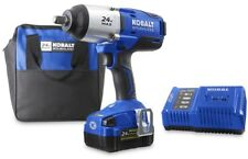 Cordless Impact Wrench Kobalt 24-Volt Max 1/2-in Drive Lithium Ion Battery