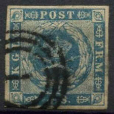 Denmark 1854-1859, 2sk Blue Used #D5744