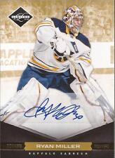 RYAN MILLER 2011-12 Panini Limited Monikers Gold Autograph #/25 Buffalo Sabres