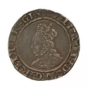 Elizabeth i hammered silver Shilling  mm Cross Crosslet  S2555