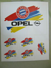 AUFKLEBER 6 x STICKERSET aus den 80´Jahren <<  OPEL - FC Bayern München >>