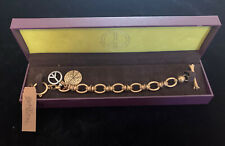 LUCKY BRAND GOLD TONE BRACELET PEACE SIGN TOGGLE CLASP BNIB PRETTY!!