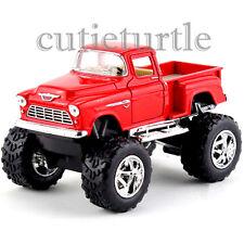 Kinsmart Off Road Big Foot Monster 1955 Chevy Stepside PickUp Truck 1:32 Red