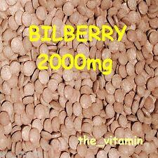 "BILBERRY 2000mg   120 tablets ""Eye Health"" ~(L)"